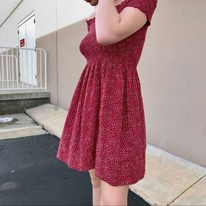 Red Floral Brandy Melville Dress